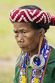 Portrait of woman at a Dayak Parade - Borneo Indonesia  ; Anniversary of Mahakam Hulu District<br>WWF-Indonesia