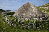 Iron Age village - Lewis island Outer Hebrides Scotland UK ; nearby Bostadh Beach