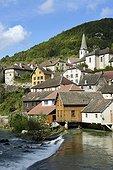 Village of Lods on the Loue river - Franche-Comté France  ; Les Plus Beaux Villages de France