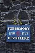Ledaig Distillery - Tobermory Mull island Hebrides Scotland ; Scotch whisky