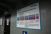 Billboard UV Index on a ferry - Chile  ; Ferry Puelche-Rampa