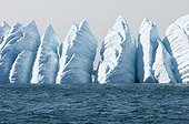 Iceberg nicked by ocean currents - Greenland