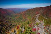 Autumn scene from Chimney Tops, Pigeon River Valley, Great Smoky Mountains National Park, Tennessee, USA