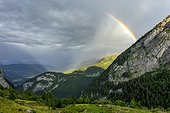 Storm on the northern Alps , Chablais , Haute-Savoie , France