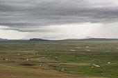 Yurts and herds in the Mongolian steppe, Tsatsiin Ereg - Province of Arkhangai - Mongolia