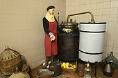 Museum corner, cylinders and still, distillery G. Miclo , Lapoutroie , Alsace, France