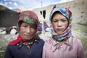 Portrait of teenage girls, Highlands, Ladakh, Himalayas, India