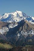 Mont Blanc massif autumn, Haute-Savoie, Massif, France
