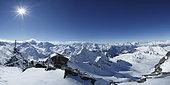 Mont-fort in winter Verbier, Alps, Switzerland