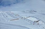 Ski slopes, resort Les Deux Alpes, France