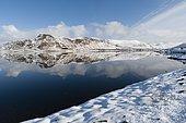 Winter landscape, Eggum, Lofoten Islands, Norway.