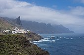 View of the fishermens village of Taganana coastal area in Northern Tenerife, Canary Islands, Spain.