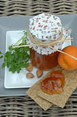 Organic Apricots, Basil and Almond Jam