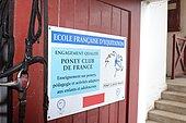 Equestrian school and pony club, Biarritz, Aquitaine, France