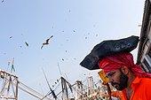 Calicut fishing port. Arrival of crawlers in the Calicut Port