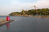 Chines nets in Cochin. Chinese nets in Cochin
