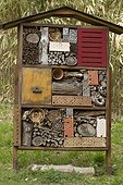 Insect Hotel, Botanical Garden of Saverne Pass, Bas-Rhin, Alsace, France.