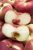 Peaches 'Sweet Cap' Saturn peach