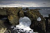 Gatklettur Stone Arch, Snaefellsnes peninsula, Arnarstapi, Iceland.