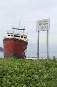 Boat Cemetery, Micolo Beach, Sao Tome and Principe Island