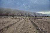 Sand storm over Najd Plateau, Saudi Arabia