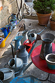 Collection of Watering cans, Provence, France