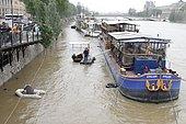 Flood of the Seine in Paris on June 02, 2016