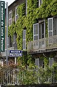 House of Louis Pasteur. the Courcelles street facade, museum, Arbois, Jura, France
