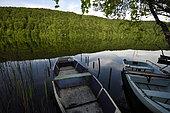 Boats, Lake Val, Menétrux-en-Joux, Jura, France