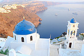 Chapel of Imerovigli, village located 2 KM from Fira at overlooking the caldera. Santorini, Cyclades, Greece