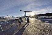 Akureyri airport. Greenland's entrance gate, February 2016