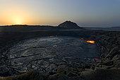 Erta Ale volcano at dawn, Great Rift valley, Afar region, Ethiopia