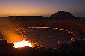 Erta Ale volcano at night, Great Rift valley, Afar region, Ethiopia