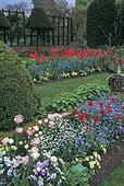 Chenies Manor Gardens, Creation of Elizabeth McLeod Matthews Planter, Rickmansworth, Buckinghamshire, England