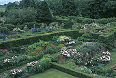 The Manor House at Upton Gray, Garden originally created by the famous English gardener Gertrude Jekyll (1843-1932) and then restored identically by current owner Rosamund Wallinger, Hampshire, England