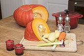 Kitchen garden vegetables for a soup