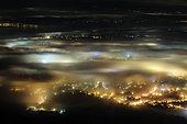 Fog and light pollution in Geneva, Switzerland