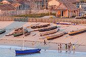 Vezo fischermen, Andavadoaka village, Ifaty Bay, Ranobe lagoon, North of Toliara, Southwestern Madagascar