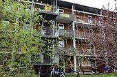 Maison à énergie positive, éco-quartier Vauban, Fribourg-en-Brisgau, Bade-Wurtemberg, Allemagne