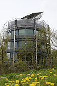 Heliotrop, the rotating solar house of architect Rolf Disch built in 1994 positive energy, Sonnenschiff district, Friburg, Baden Württemberg, Germany