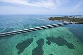Aerial view of Keys, Florida