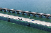 Aerial view of Seven miles bridge, Keys Archipelago, Florida