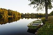 Pond at sunset, plateau des Mille étangs, Franche-Comté, France