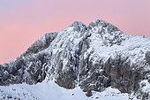 Summit of Gélas (3143 m) in autumn, Mercantour, Alps, France