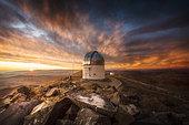 Sunset at the observatory, Las Campanas, Atacama Desert, Chile