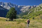 Hiking, Cirque de Gavarnie, Pyrenees National Park, France