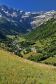Gavarnie and Cirque de Gavarnie. Pyrenees National Park, France