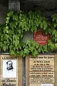 Museum of the House of Louis Pasteur in Arbois, Jura, France