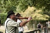 Championnat de France d'imitation de brame de cerf au parc animalier de Sainte-Croix à Rhodes, Lorraine, France