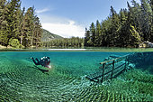Scuba Diving in Green Lake, Tragoess, Styria, Austria